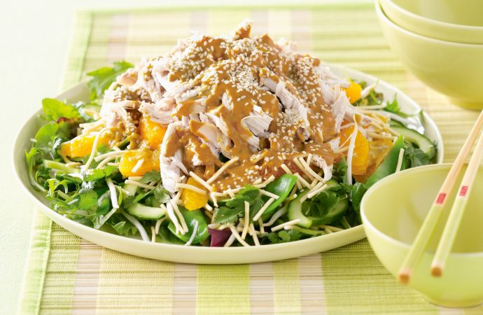 How to Make a Nutritional Thai Crunch Chicken Salad